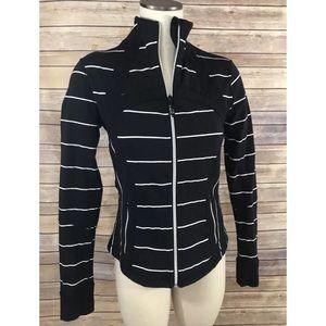 Lululemon Define Jacket in Black Sailor Stripe, 10